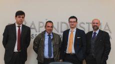 Trezzi, Megna, Raineri e Sivieri alla presentazione della partnership per la formazione