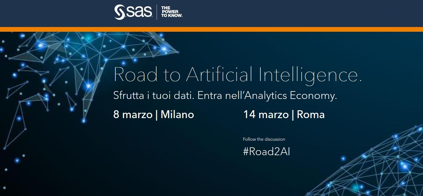 Road to Artificial Intelligence, a Milano e Roma il roadshow SAS
