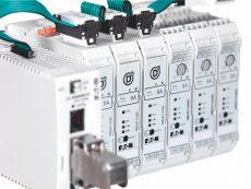 nuovo avviatore elettronico per motori EMS2 di Eaton combina molteplici funzioni in un unico componente di soli 22,5 mm