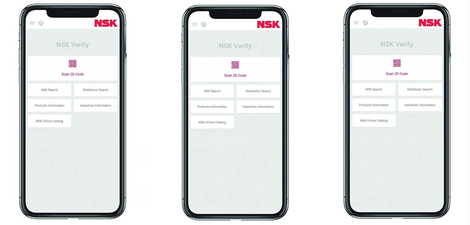 Nuovo aggiornamento dell'app NSK Verify per i cuscinetti industriali
