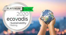 Omron ha ottenuto la certificazione Platino da EcoVadis per la sostenibilità