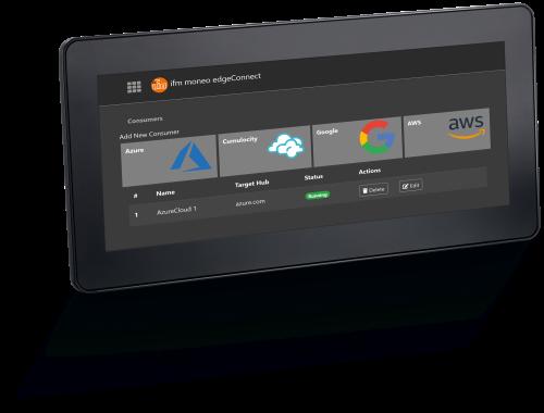 Con edgeGateway di ifm, i dati dei sensori vengono trasferiti al cloud come informazioni leggibili in modo semplice, veloce e sicuro.